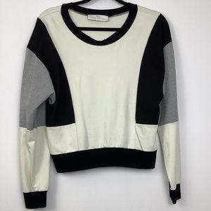 Amanda Uprichard Colorblock Sweater in Cream Multi